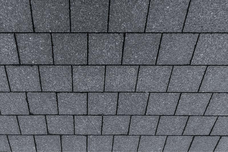 Grund för modell för sikt för perspektiv för bakgrund för fyrkantig grå tegelplatta för tak sned symmetrisk geometrisk royaltyfria bilder