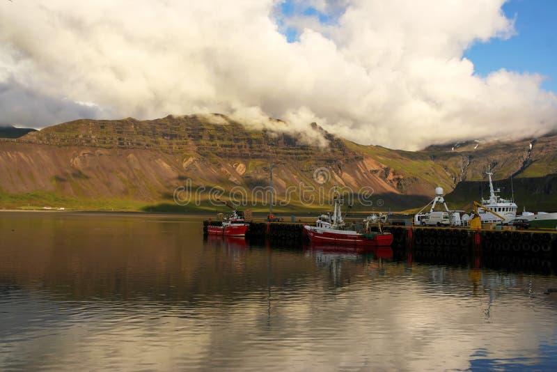 Grundarfjordur harbour, Snaefellsnes, west Iceland stock images