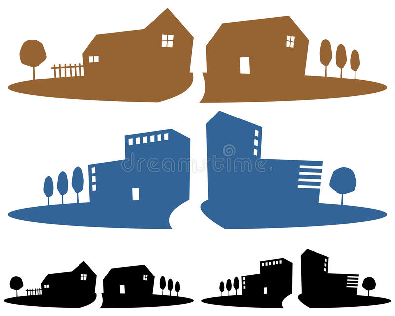 Grundbesitz-Agentur-Fahnen lizenzfreie abbildung