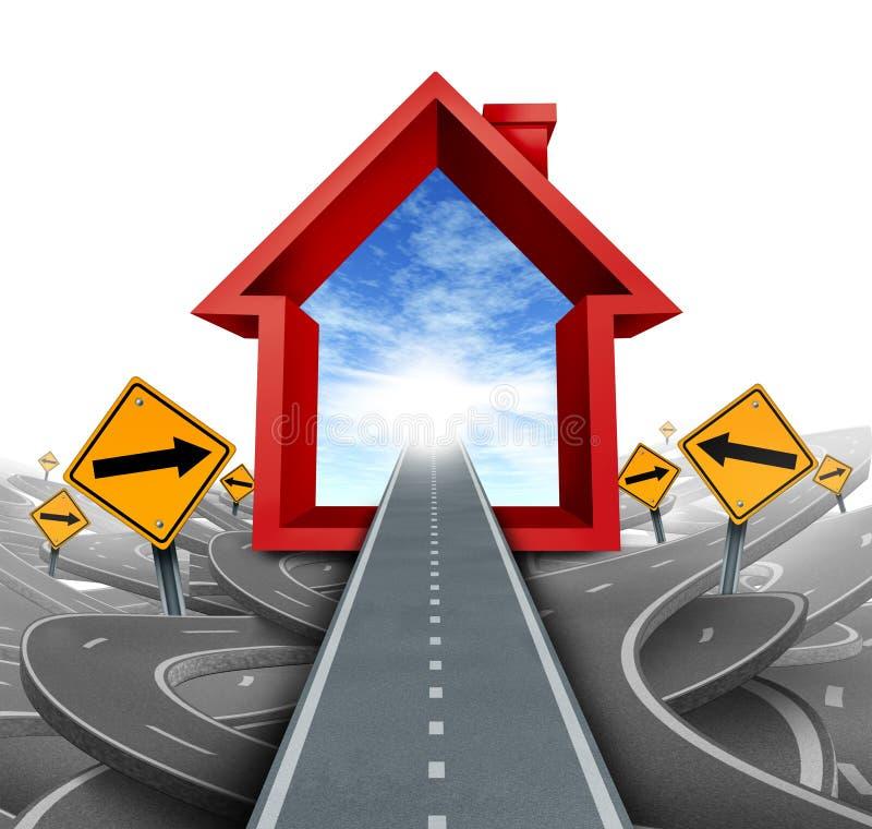 Grundbesitz-Dienstleistungen lizenzfreie abbildung