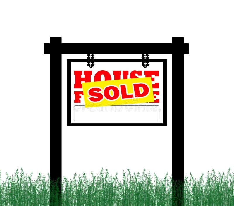 Grundbesitz für Verkaufs-Zeichen lizenzfreie abbildung
