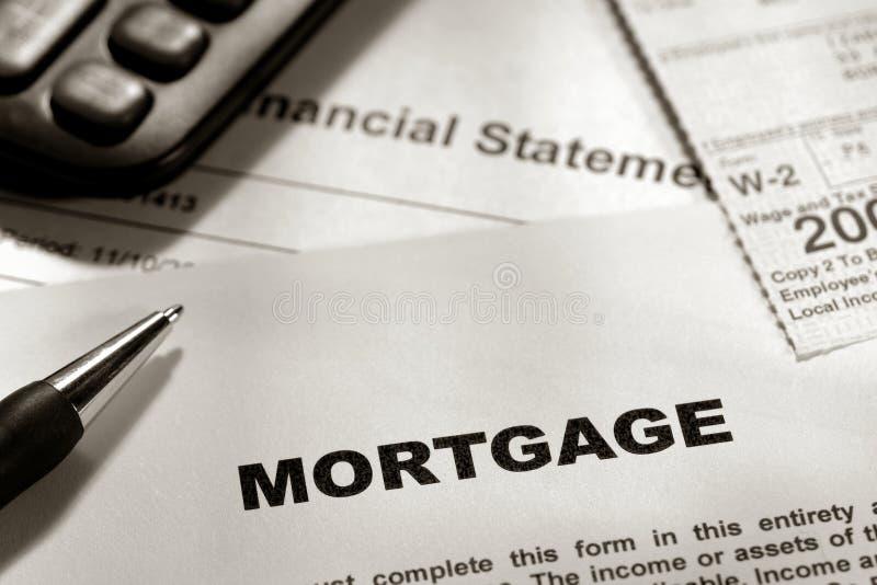 Grundbesitz-generisches Hypotheken-Formular stockfotografie