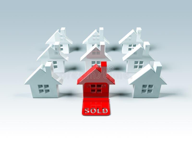 Grundbesitz: verkauft vektor abbildung