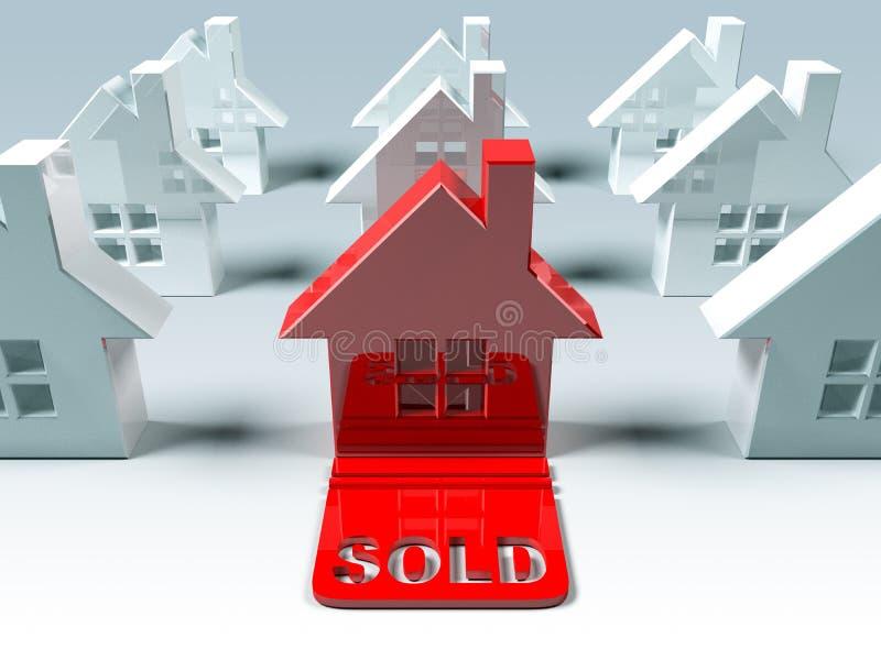 Grundbesitz: verkauft stock abbildung