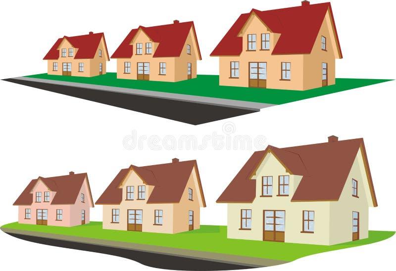 Grundbesitz - Vorort vektor abbildung
