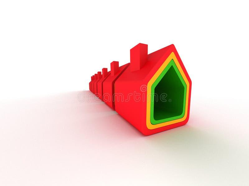 Grundbesitzhaus in der Perspektiveansicht stockfotografie