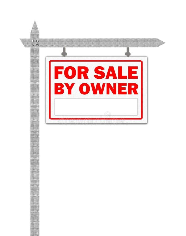 Grundbesitzhaus für Verkaufszeichen lizenzfreie abbildung