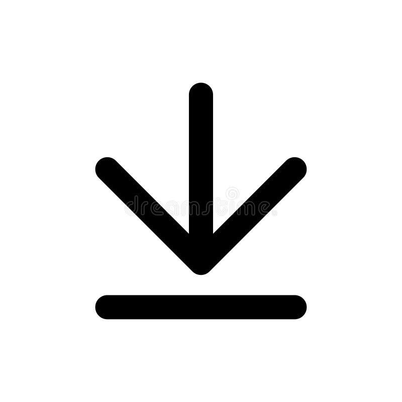 Grundläggande app-nedladdningsymbol stock illustrationer