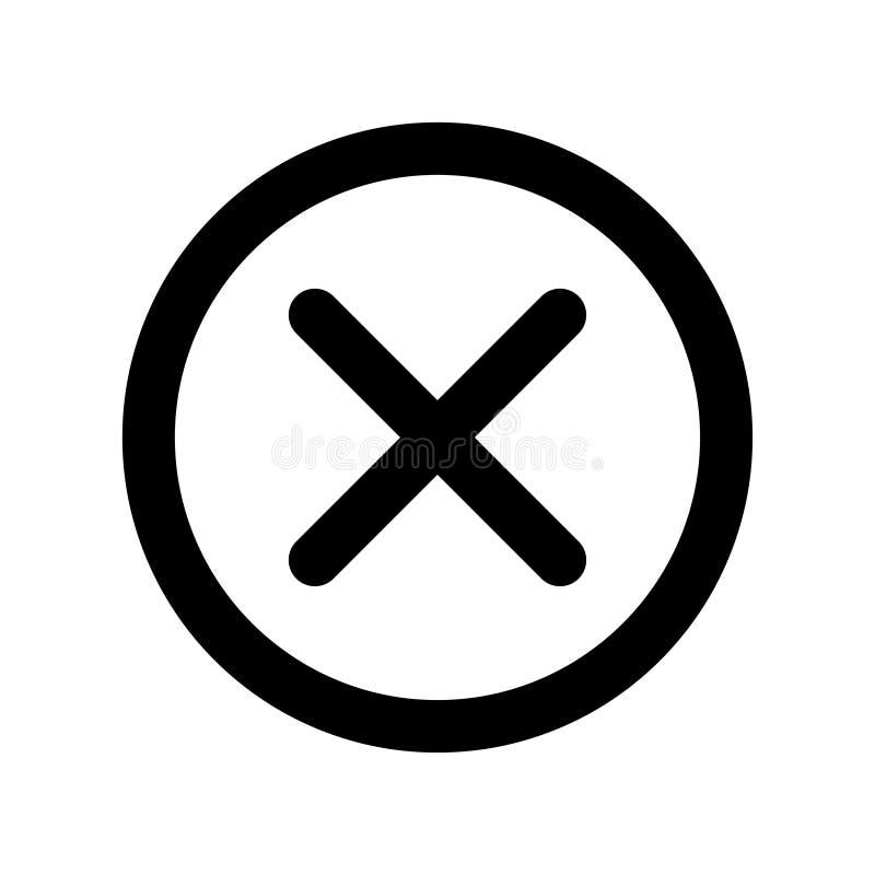 Grundläggande app-slutsymbol royaltyfri illustrationer