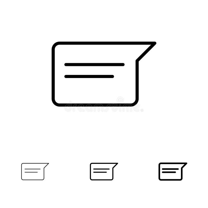 Grundläggande, för prata, Ui satt en klocka på och tunn svart linje symbolsuppsättning för pratstund, stock illustrationer