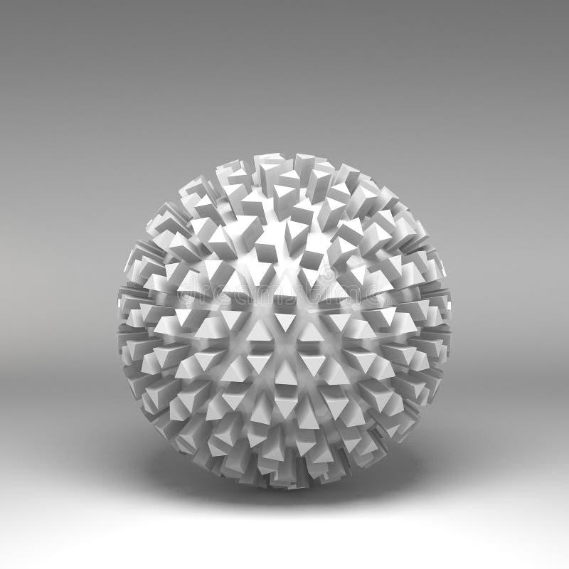 grundläggande geometriska former för illustration 3d stock illustrationer