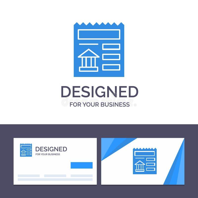 Grundläggande idérik mall för affärskort och logo, dokument, Ui, bankvektorillustration royaltyfri illustrationer