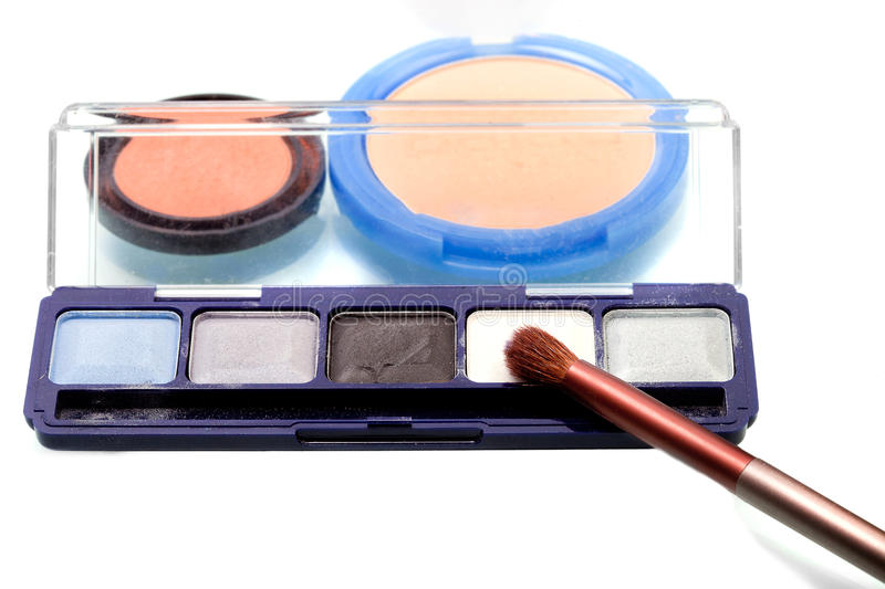 Grundläggande makeupuppsättning fotografering för bildbyråer