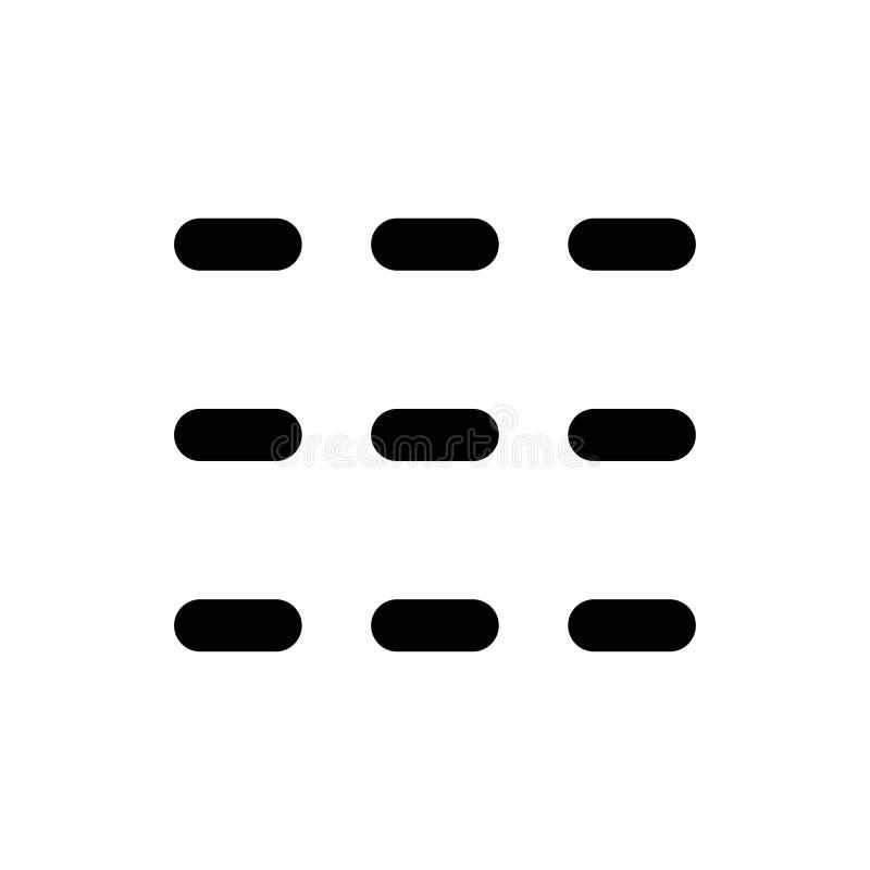 Grundläggande symbol för app-orienteringstumnagel vektor illustrationer
