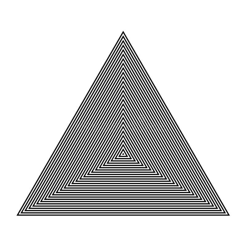 GRUNDLÄGGANDE VANLIGT GEOMETRISKT Grafiska beståndsdelar PARALLELLEN FODRAR MED TRIANGELN vektor illustrationer