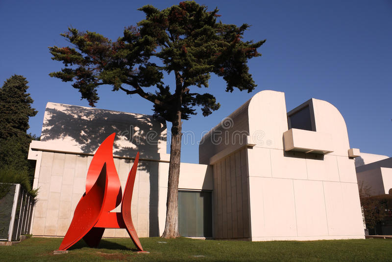Grundlagen-Museum Joan-Miro stockfotografie