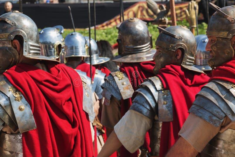 Grundlagenjahrestag Roms/Italy/04/22/2018 Rom Römische Soldaten stockfotos