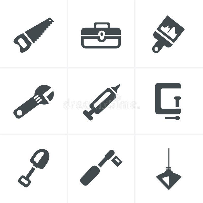 Grundlegend - Werkzeuge und Bau vektor abbildung