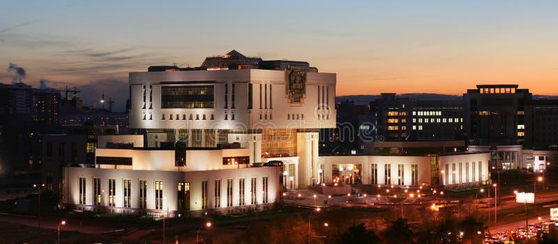 Grundlegende Bibliothek in der Moskau-Landesuniversität stockfotos