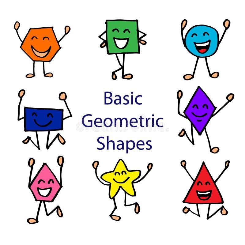 Grundlegende geometrische Formen lizenzfreie abbildung