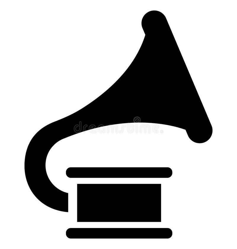 Grundlegendes RGB-Grammophon lokalisierte Vektor-Ikone, die leicht ?ndern oder redigieren kann lizenzfreie abbildung