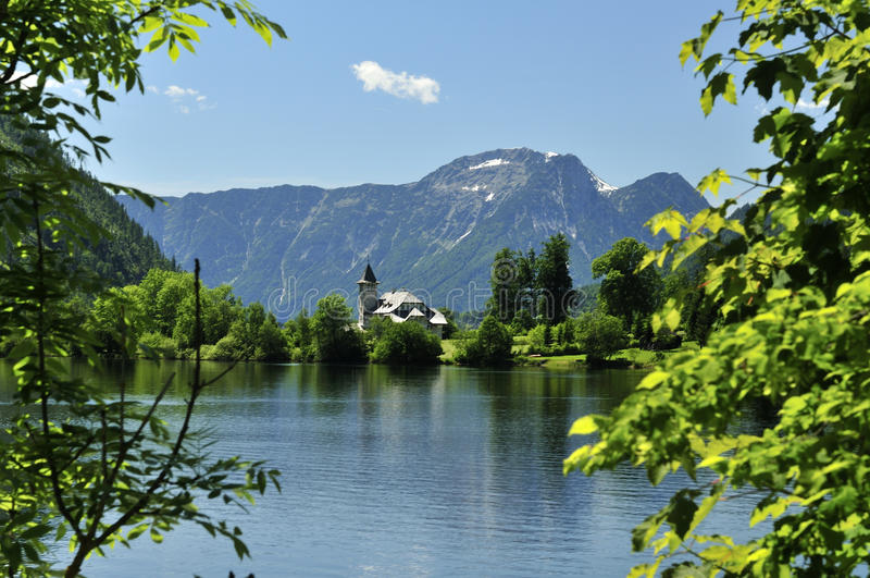 Grundlsee Castle. On Grundlsee lake in Salzkammergut - Austria royalty free stock images