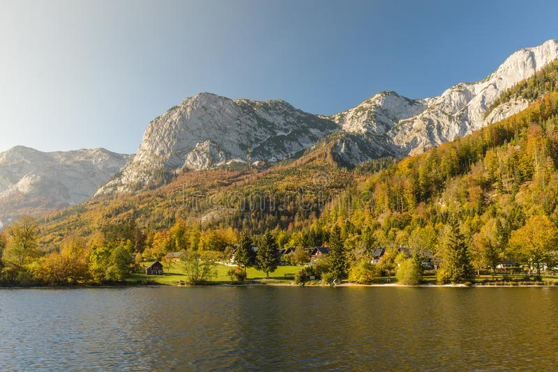 Grundlsee, Styria, Áustria fotografia de stock royalty free