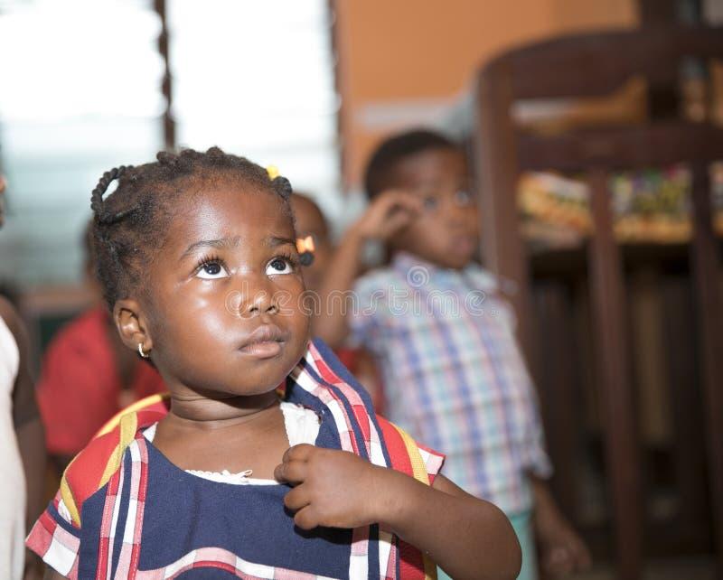 Grundschule-Kinder von Ghana, West-Afrika stockbilder