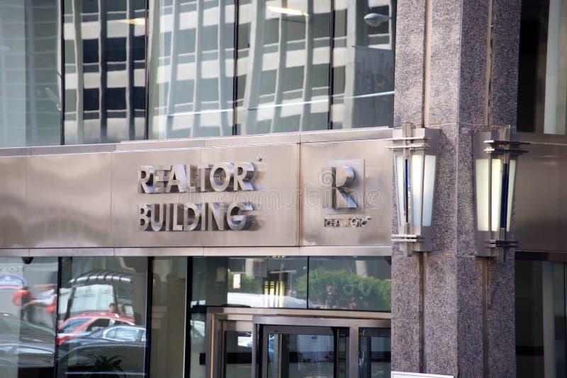 Grundstücksmakler-errichtendes Stadtzentrum, Chicago Illinois stockfoto
