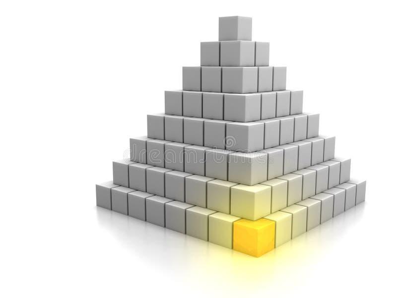 Grundstein-Konzept lizenzfreie abbildung