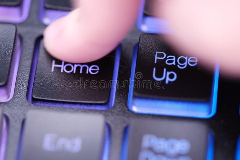 Grundstellungstaste auf Tastatur lizenzfreie stockfotos