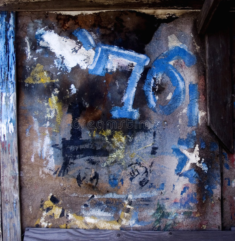 Free Grung Painted Wall Royalty Free Stock Photos - 661118