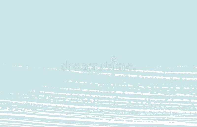 Grunge纹理 困厄蓝色概略的踪影 凉快的ba 库存例证