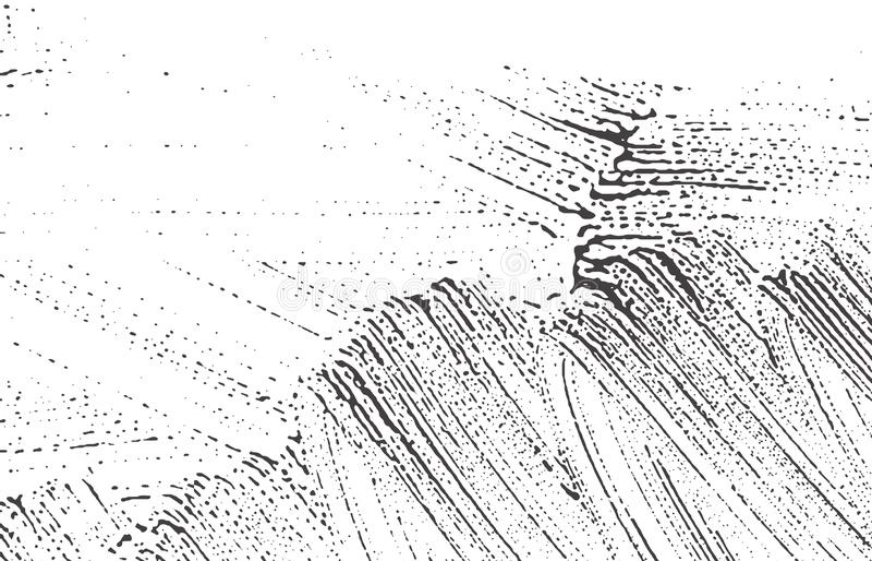 Grunge纹理 困厄黑灰色概略的踪影 A 皇族释放例证