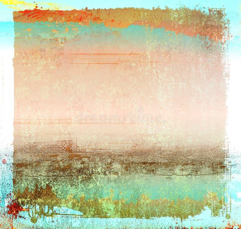 Grunge五颜六色的背景 免版税库存图片
