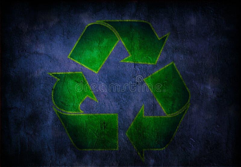 grunge回收符号 皇族释放例证