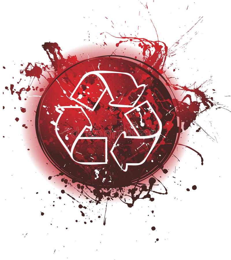 grunge回收 库存例证