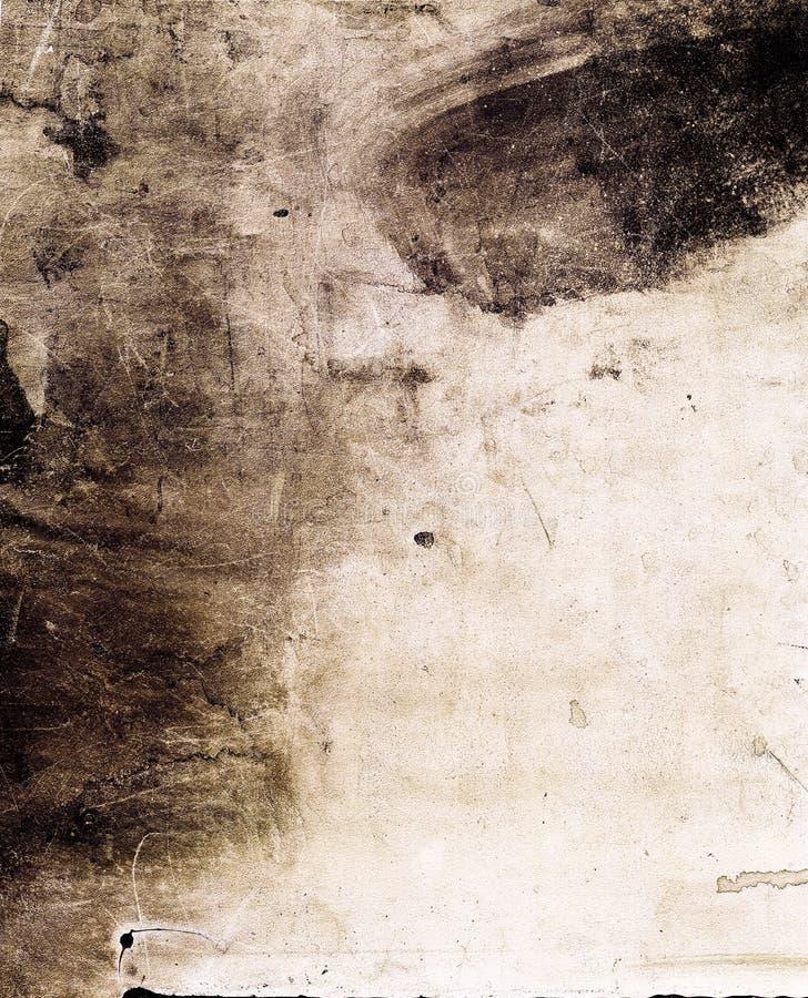grunge墨水被弄脏的纹理 免版税库存照片