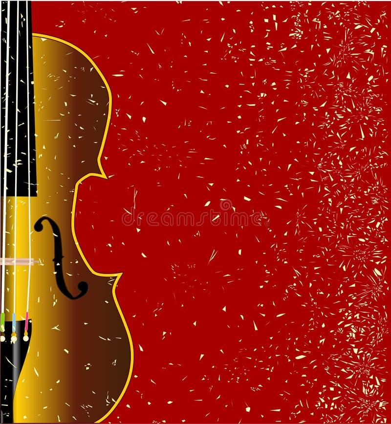 Grunge小提琴 皇族释放例证