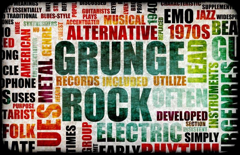 grunge岩石 皇族释放例证