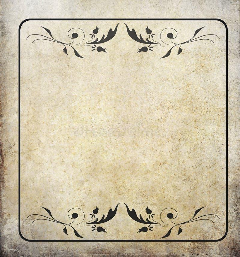 grunge标签老纸葡萄酒 图库摄影