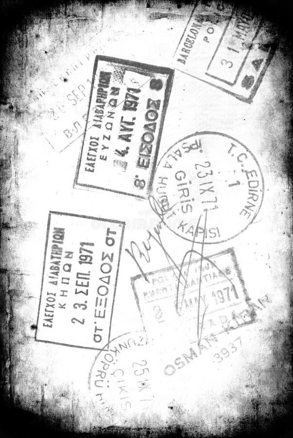 grunge标记签证 图库摄影