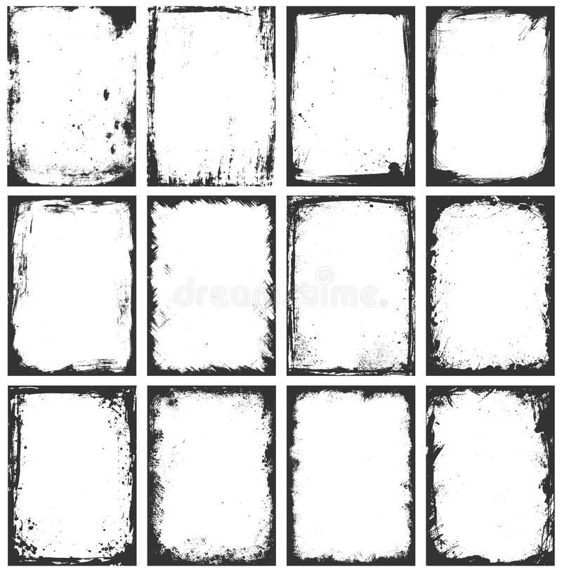Grunge框架 向量例证