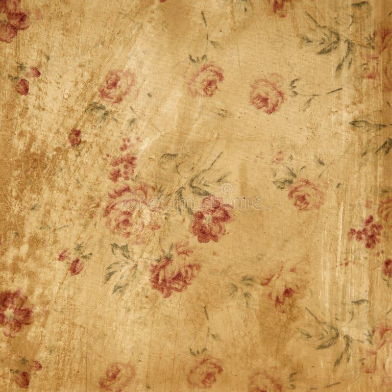grunge模式玫瑰色墙壁黄色 库存照片