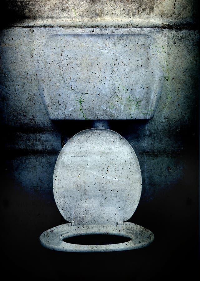 grunge洗手间 库存图片