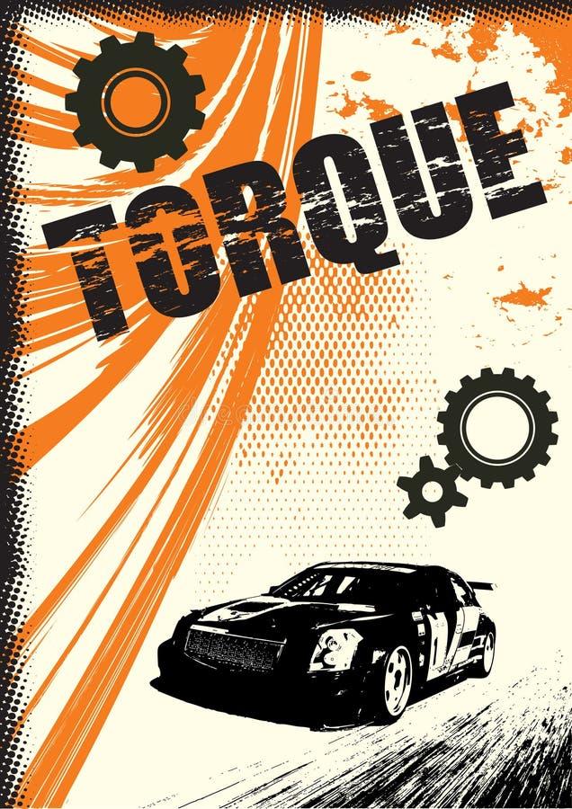 grunge海报向量 库存例证