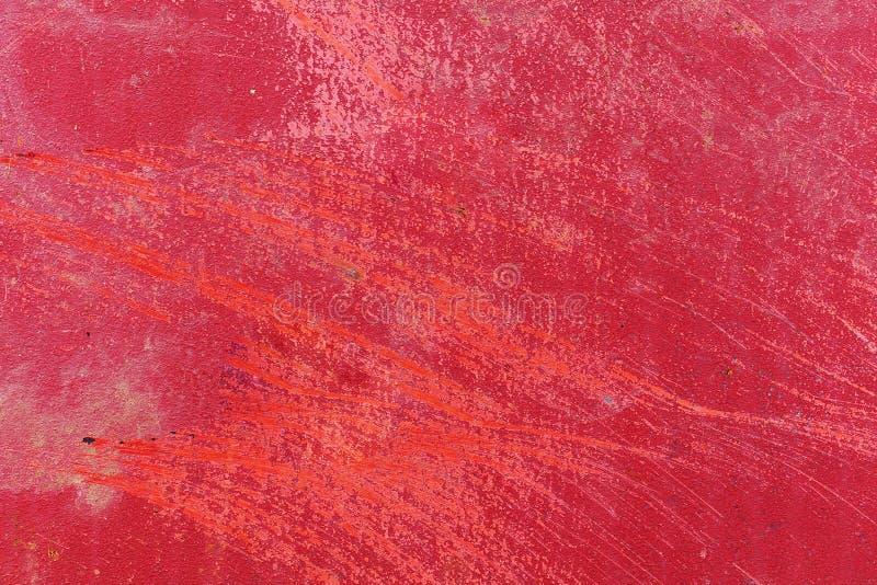 Grunge生锈的纹理和红色背景 图库摄影