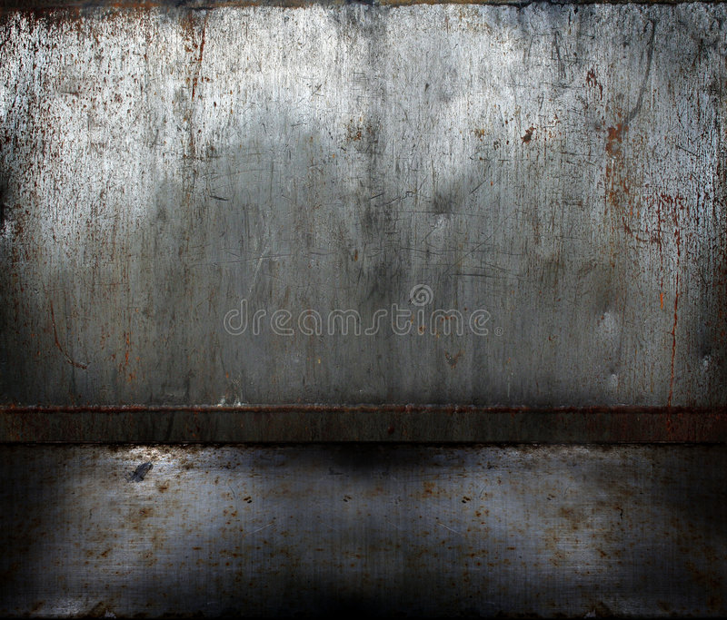 grunge生锈金属的空间 皇族释放例证