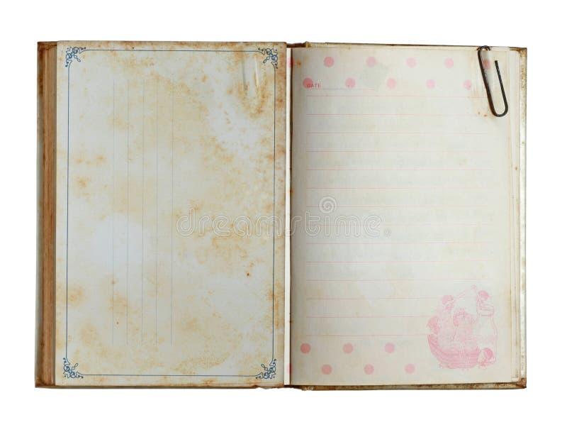 Grunge笔记本 库存图片