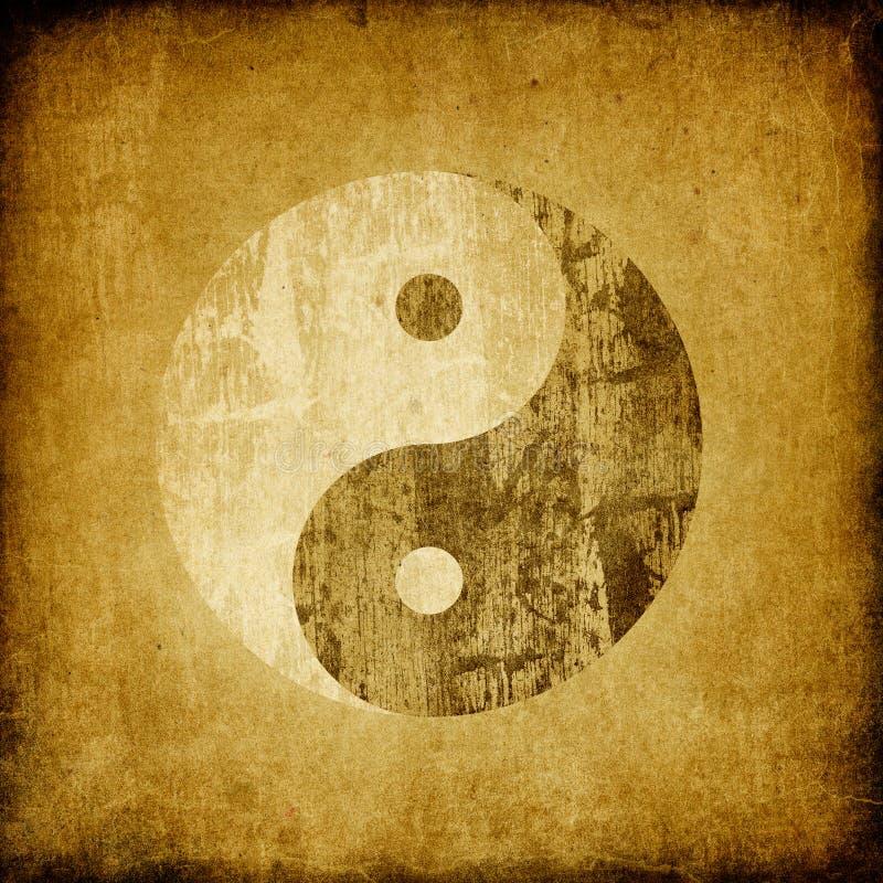 grunge符号杨yin 向量例证
